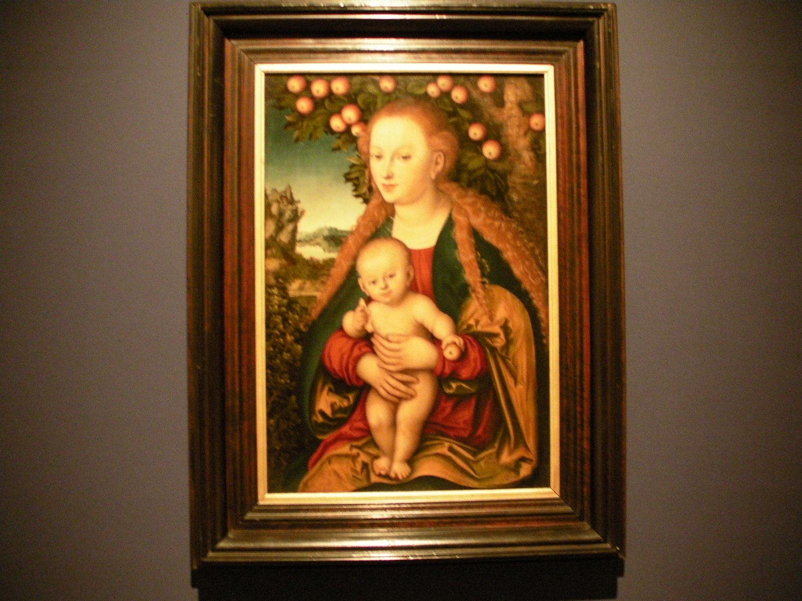 ルカス・クラーナハ《林檎の木の下の聖母子》(1530年頃)