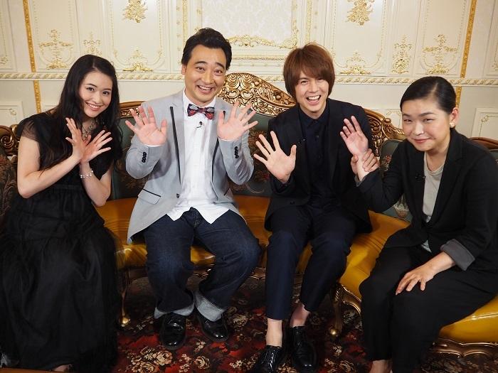 写真左から  小南満佑子 斉藤慎二(ジャングルポケット)浦井健治 町田麻子(ライター)