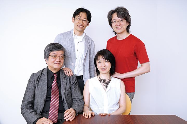 大塚直哉(上段左)、鈴木優人(上段右)、渡邊順生(下段左)、曽根麻矢子(下段右)