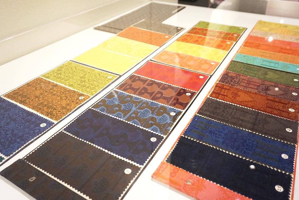 様々な図案のカラーサンプル、デザイン:マイヤ・イソラ、1960年
