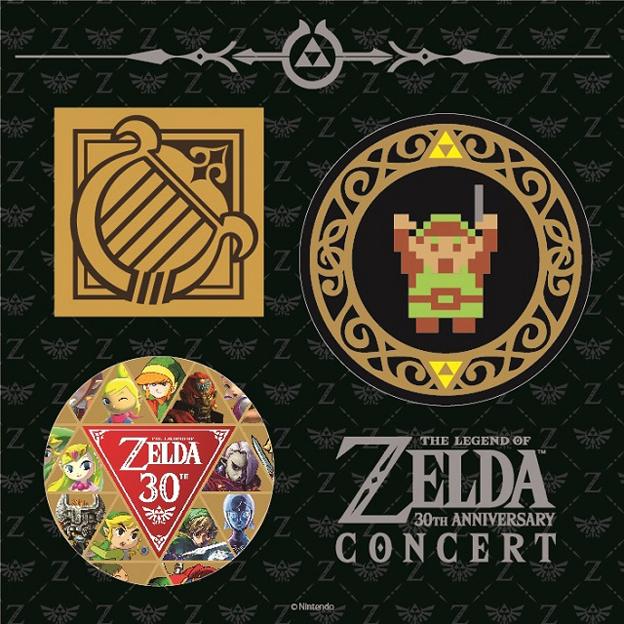 『ゼルダの伝説 30周年記念コンサート』オリジナル缶バッジ  (C)1986-2016 Nintendo