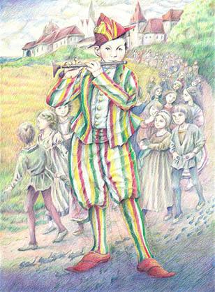 マネ「笛吹きの少年」からハーメルンの笛吹きを連想した一枚