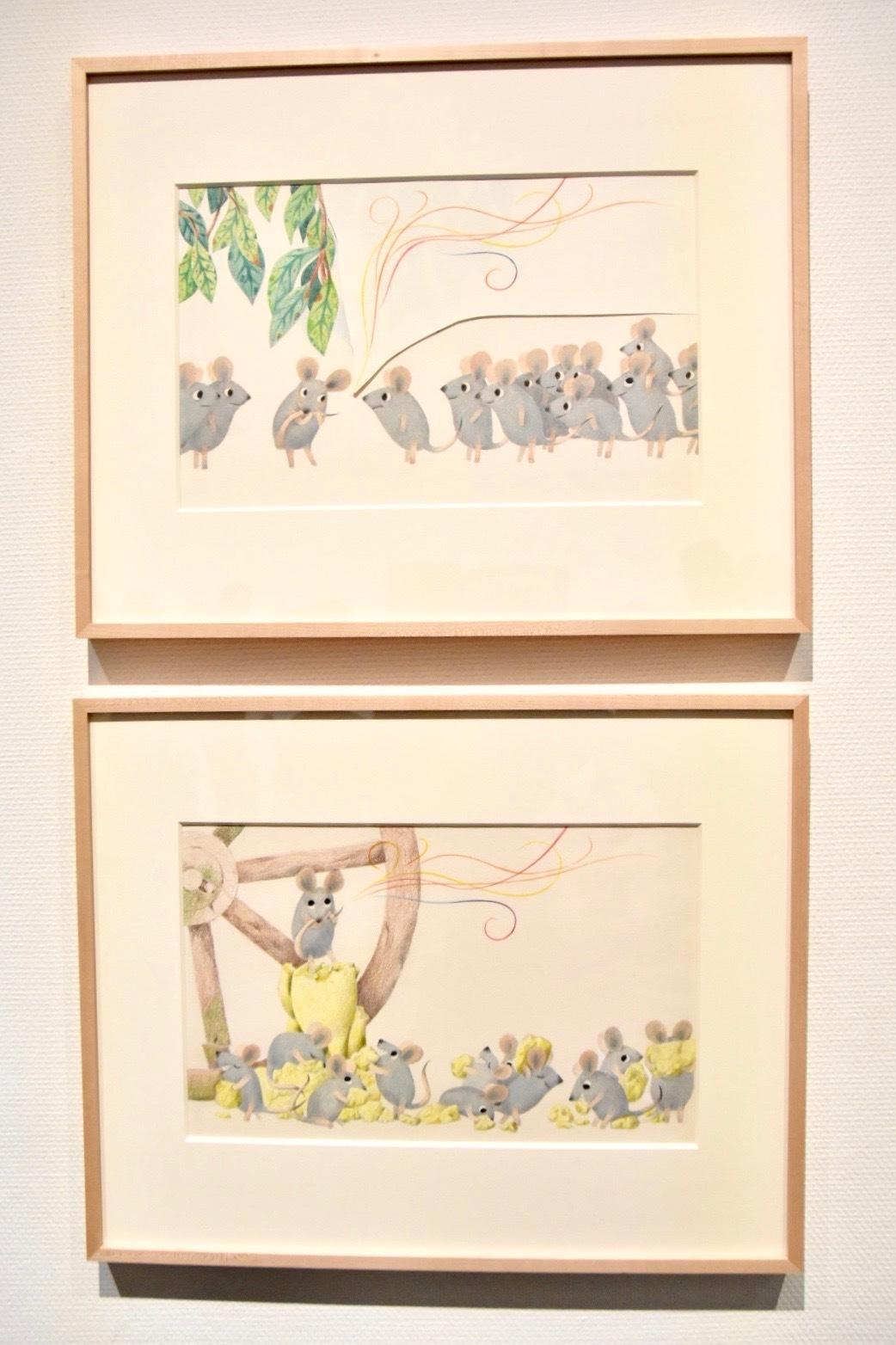 『おんがくねずみ ジェラルディン』原画 1979年 アニー・レオーニ氏所蔵