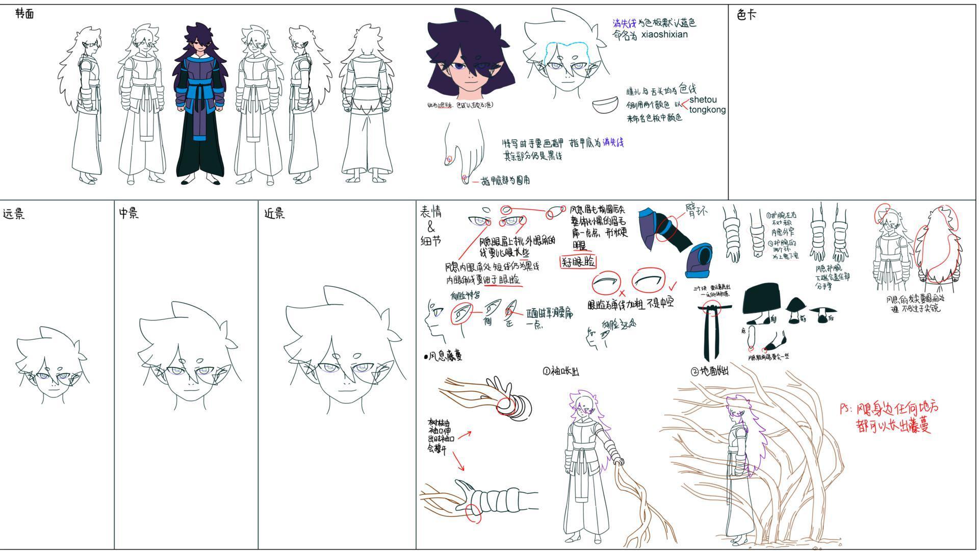 設定画〈フーシー〉 (C) Beijing HMCH Anime Co.,Ltd