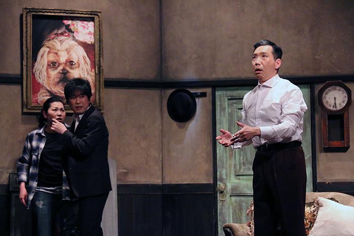 上地春奈、山崎樹範、梶原善/舞台「~崩壊シリーズ~『九条丸家の殺人事件』」