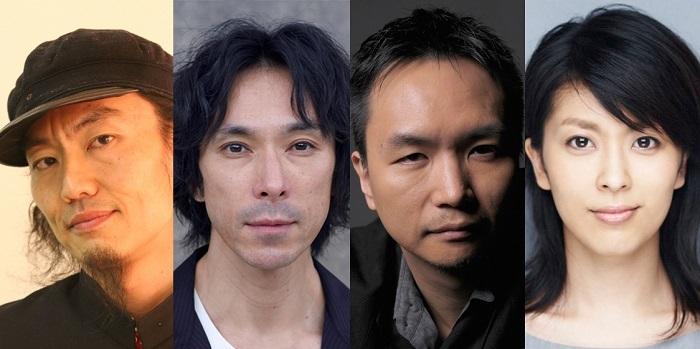 演劇『イヌビト ~犬人~』(左から)近藤良平、首藤康之、長塚圭史、松たか子