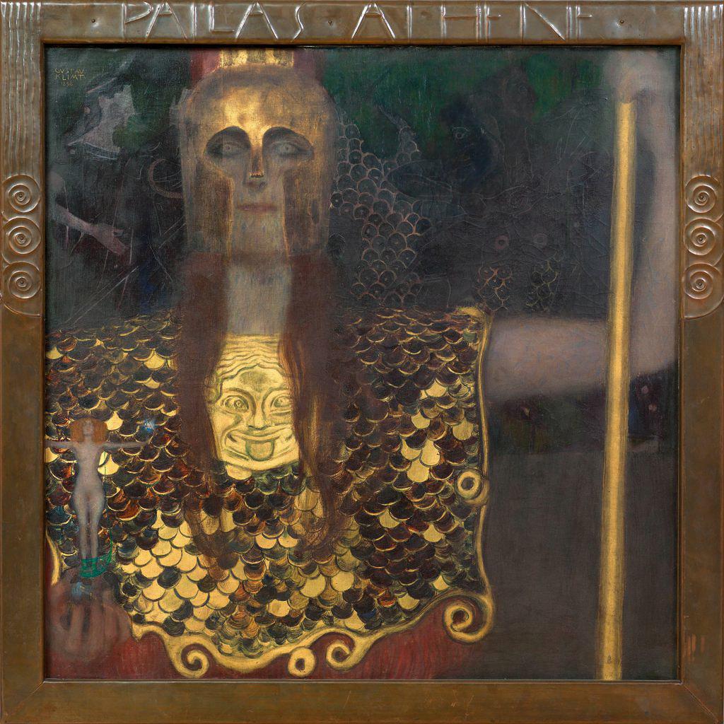 グスタフ・クリムト 《パラス・アテナ》 1898年 油彩/カンヴァス ウィーン・ミュージアム蔵 (C)Wien Museum / Foto Peter Kainz