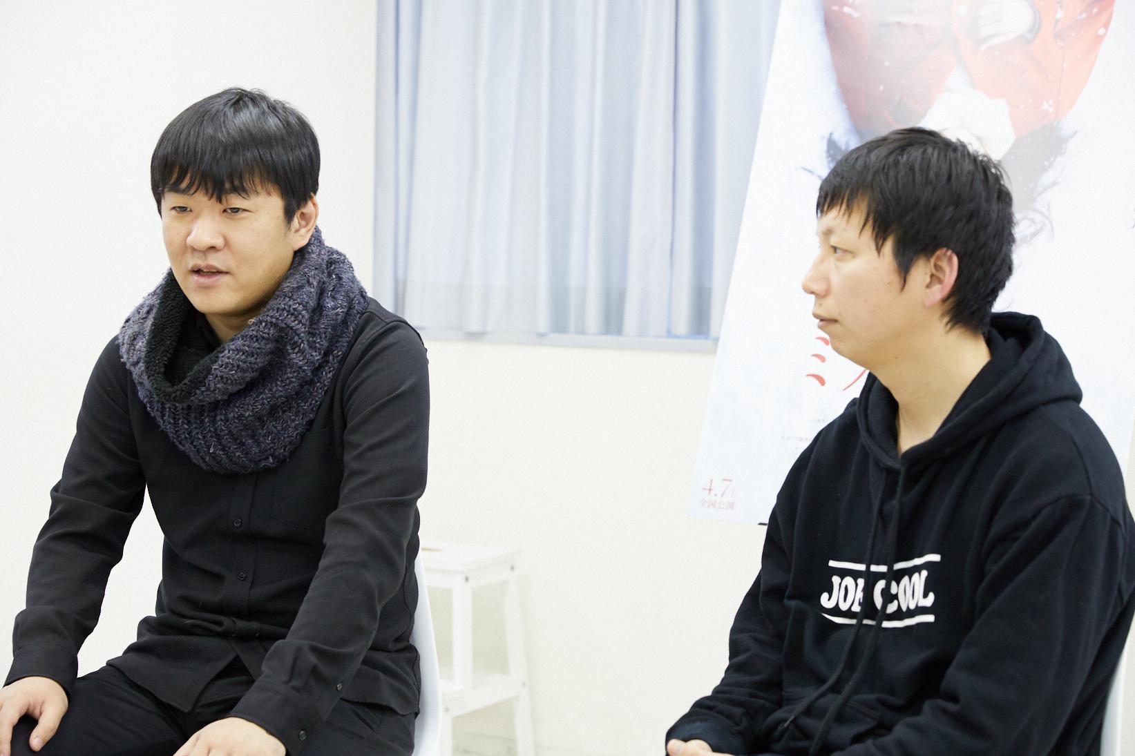 左から、押切蓮介氏(原作者)、内藤瑛亮監督