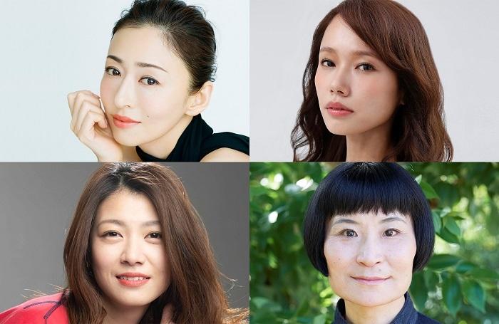 (上段左から)松雪泰子、ソニン(下段左から)瀧内公美、片桐はいり