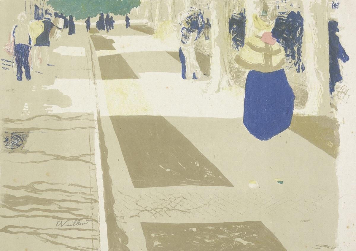 エドゥアール・ヴュイヤール《街路(風景と室内)》 1899年 多色刷りリトグラフ アムステルダム、ファン・ゴッホ美術館
