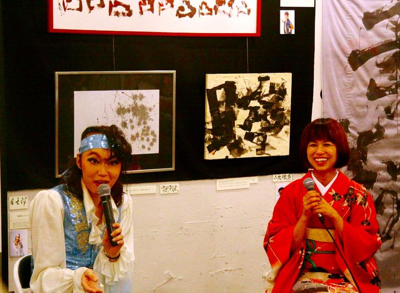 日出郎(左)と田中象雨(右)