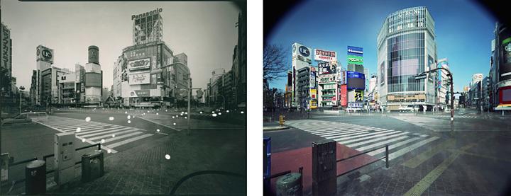 佐藤時啓『An hour exposure 1990/2017 Tokyo - Shibuya』2017年 写真/2点組