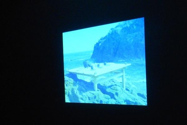 展示会場より 「お水え」記録映像