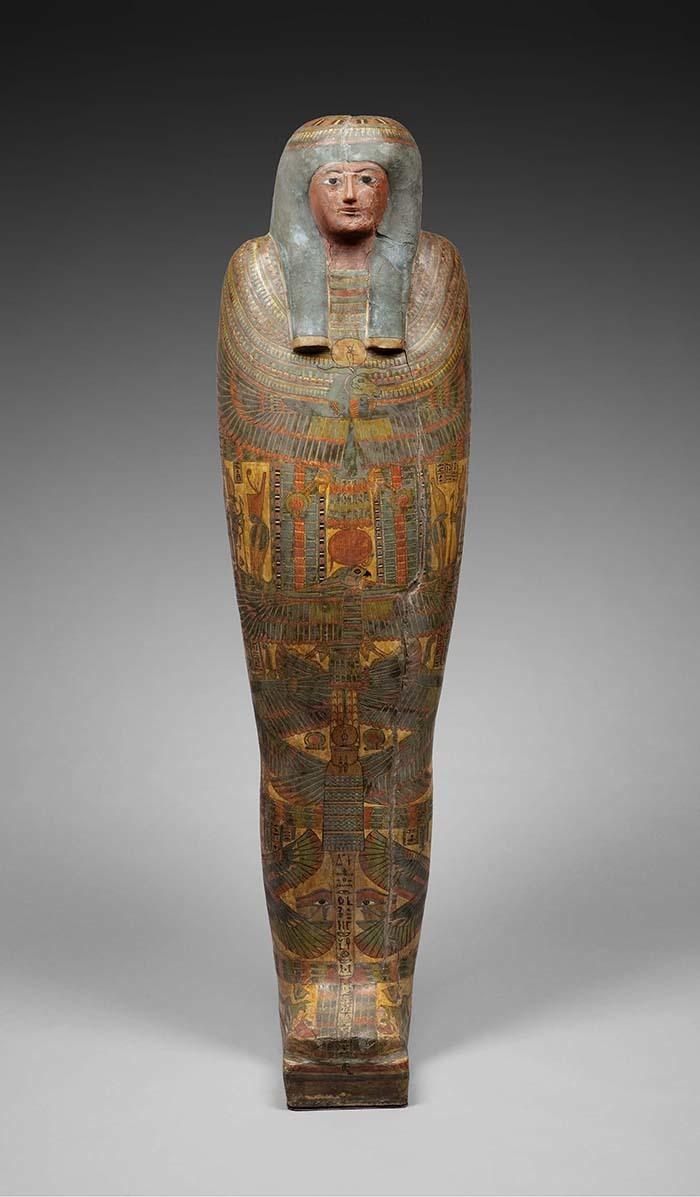 《ネスコンスパケレドのカルトナージュ棺》前756~前722年頃  (C)Staatliche Museen zu Berlin, Ägyptisches Museum und Papyrussammlung Berlin / S. Steiß
