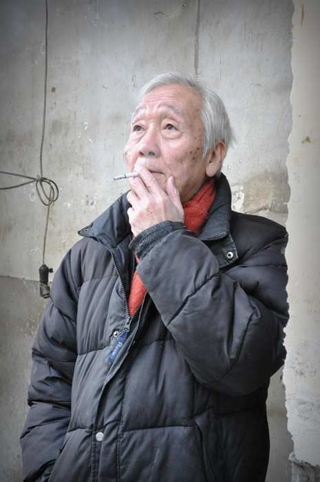 「維新派」主宰の松本雄吉(2013年撮影)。 [撮影]吉永美和子