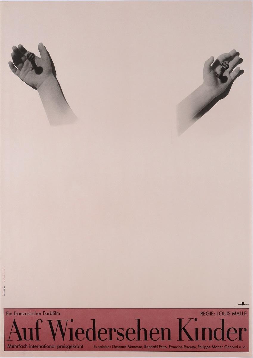 『さよなら子供たち』(1987 年/フランス=西ドイツ/ルイ・マル監督) ポスター:オットー・クンメルト(1989 年) サントリーポスターコレクション(大阪新美術館建設準備室寄託)