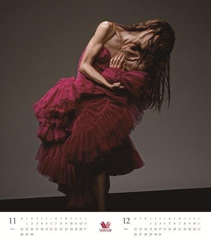 「Wacoal 2016 Calendar」11月・12月