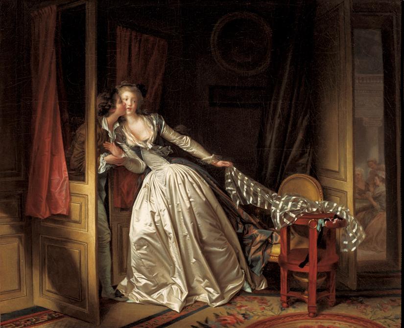 ジャン=オノレ・フラゴナールとマルグリット・ジェラール 《盗まれた接吻》 1780年代末 (C)The State Hermitage Museum, St Petersburg, 2017-18