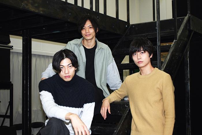 (左から)東啓介、久保田秀敏、多和田秀弥