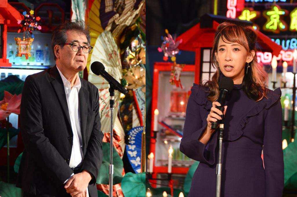 実行委員長の南條史生さん(左)とメインプログラム・アーティストの蜷川実花(右)