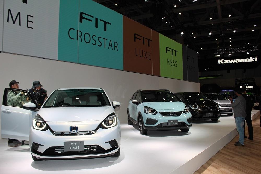 ホンダのブースにて2020年2月発売予定の新型「FIT(フィット)」