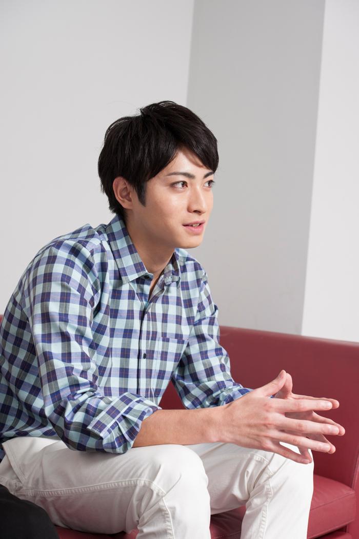 影山飛雄役を務める木村達成さん 撮影:平田貴章