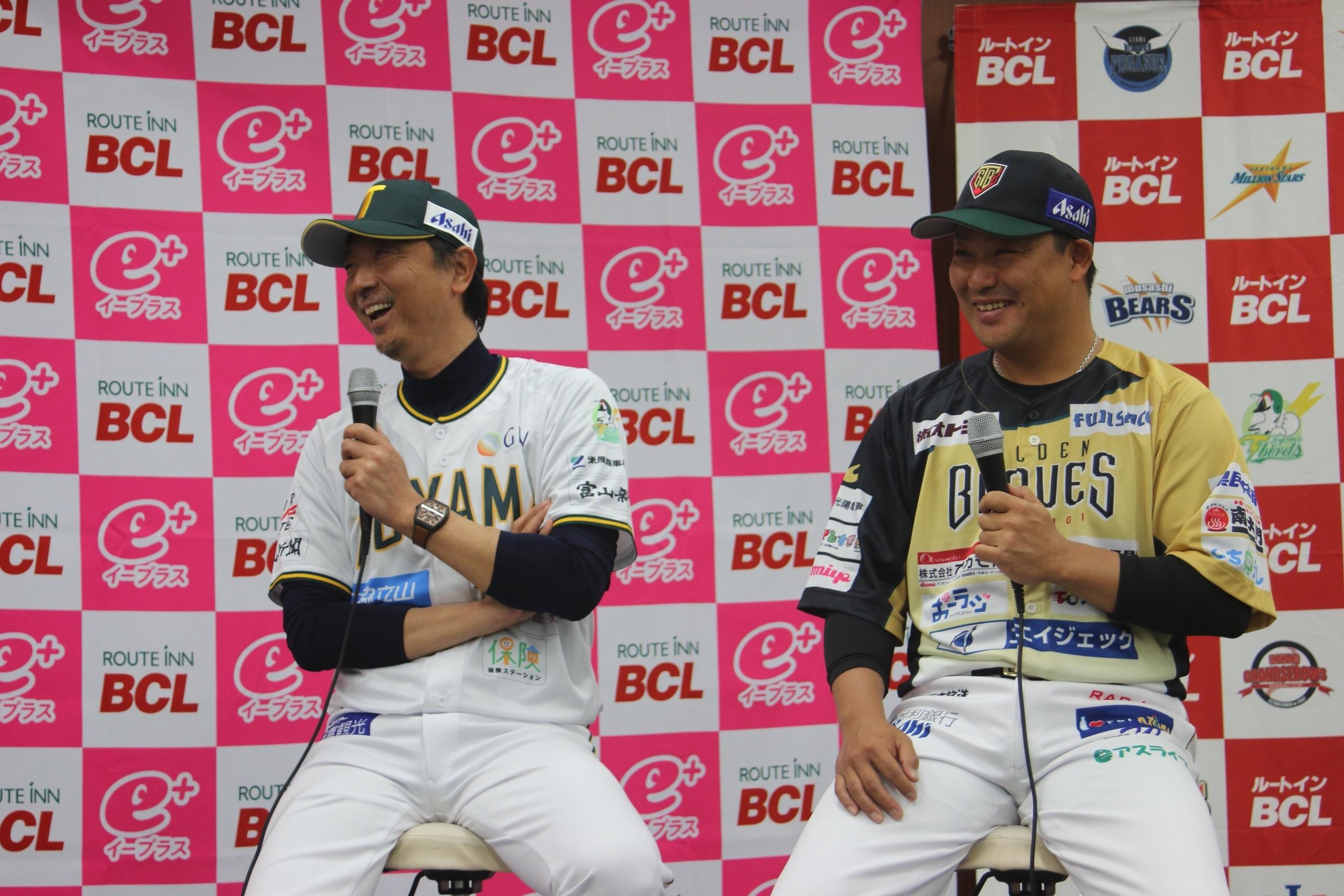 村田修一選手、伊藤智仁監督、佐野慈紀取締役によるトークショーを開催
