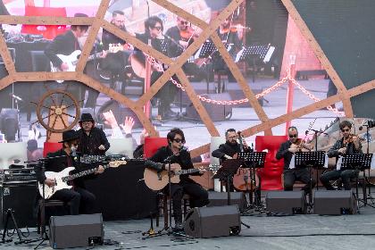 GLAYのTERUとJIRO、ヴェネツィア/サン・マルコ広場でパフォーマンス