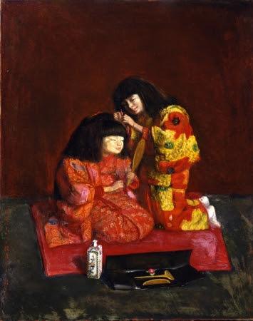 「二人麗子図(童女飾髪図)」1922年(泉屋博古館分館蔵)