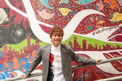 """香取慎吾、香港の中環に初の海外ストリート・アート作品を完成! 香港をイメージした""""龍""""のモチーフ"""