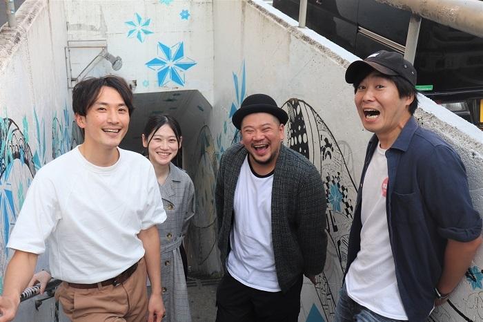 写真左から田中博士、葛堂里奈、田代源起、高木公佑
