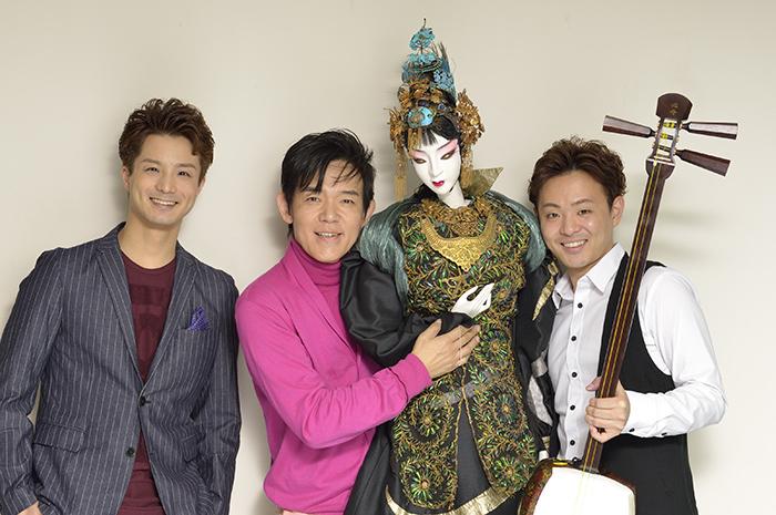 左から 田代万里生、ホリ・ヒロシ、浅野 祥