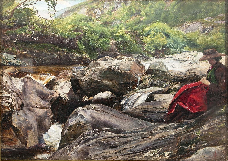 ジョン・エヴァレット・ミレイ《滝》1853年、油彩/板、23.2×33.3 cm、デラウェア美術館 (C) Delaware Art Museum, Samuel and Mary R. Bancroft Memorial, 1935