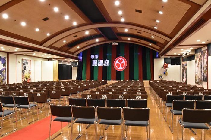 ホテルニュー塩原内の大衆演劇場「塩原鳳凰座」。