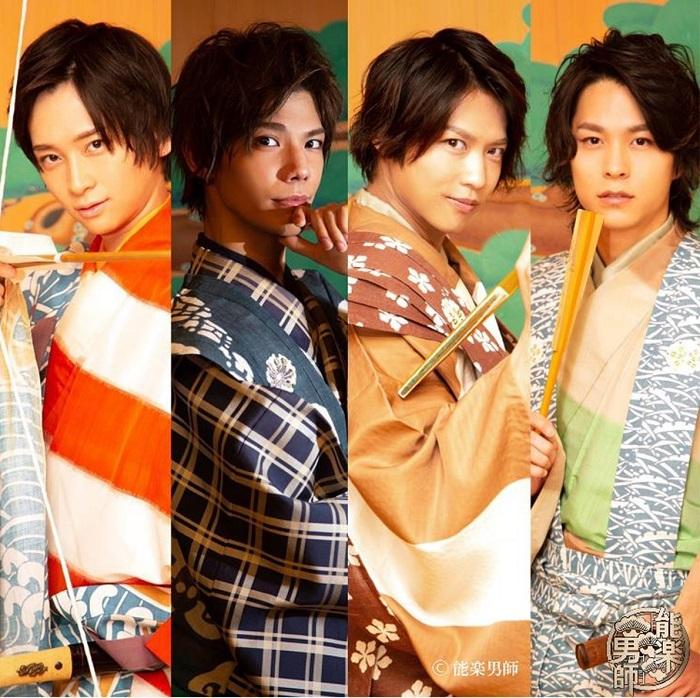 (左から)荒牧慶彦、健人、岩崎孝次、上堂地かんき (C)2020 ARAMAKI YOSHIHIKO (C)SPACE CRAFT GROUP. (C)HERO