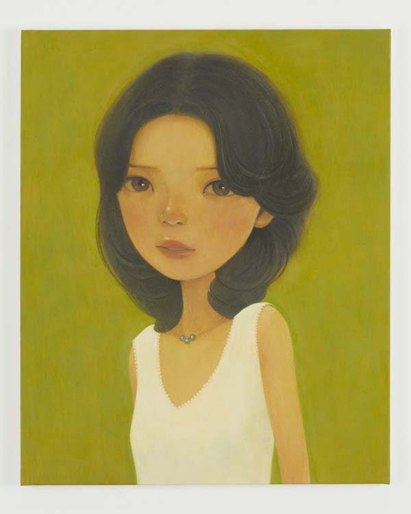 「Midori」 2017acrylic on canvas 65.4 x 53.0 cm (C) Hideaki Kawashima