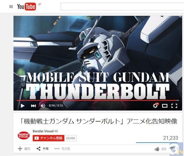 『機動戦士ガンダム サンダーボルト』アニメ化告知映像が公開に