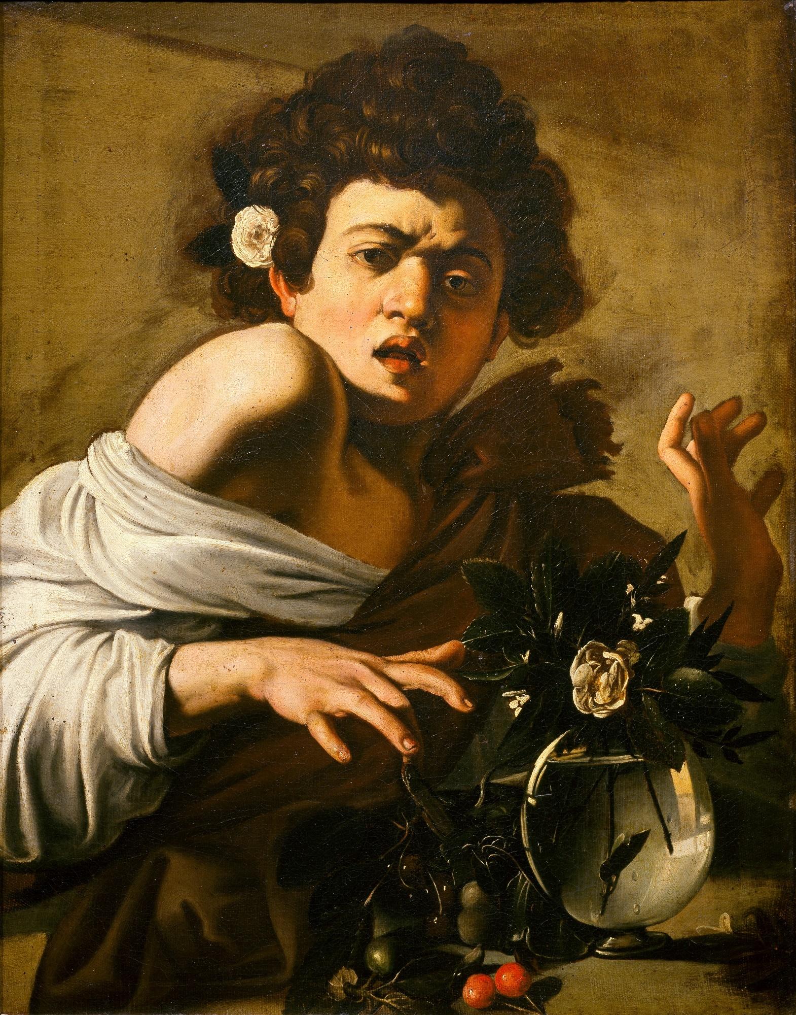 カラヴァッジョ 《トカゲに噛まれる少年》 1596〜97年頃 フィレンツェ、ロベルト・ロンギ美術史財団 Firenze, Fondazione di Studi di Storia dell'Arte Roberto Longhi