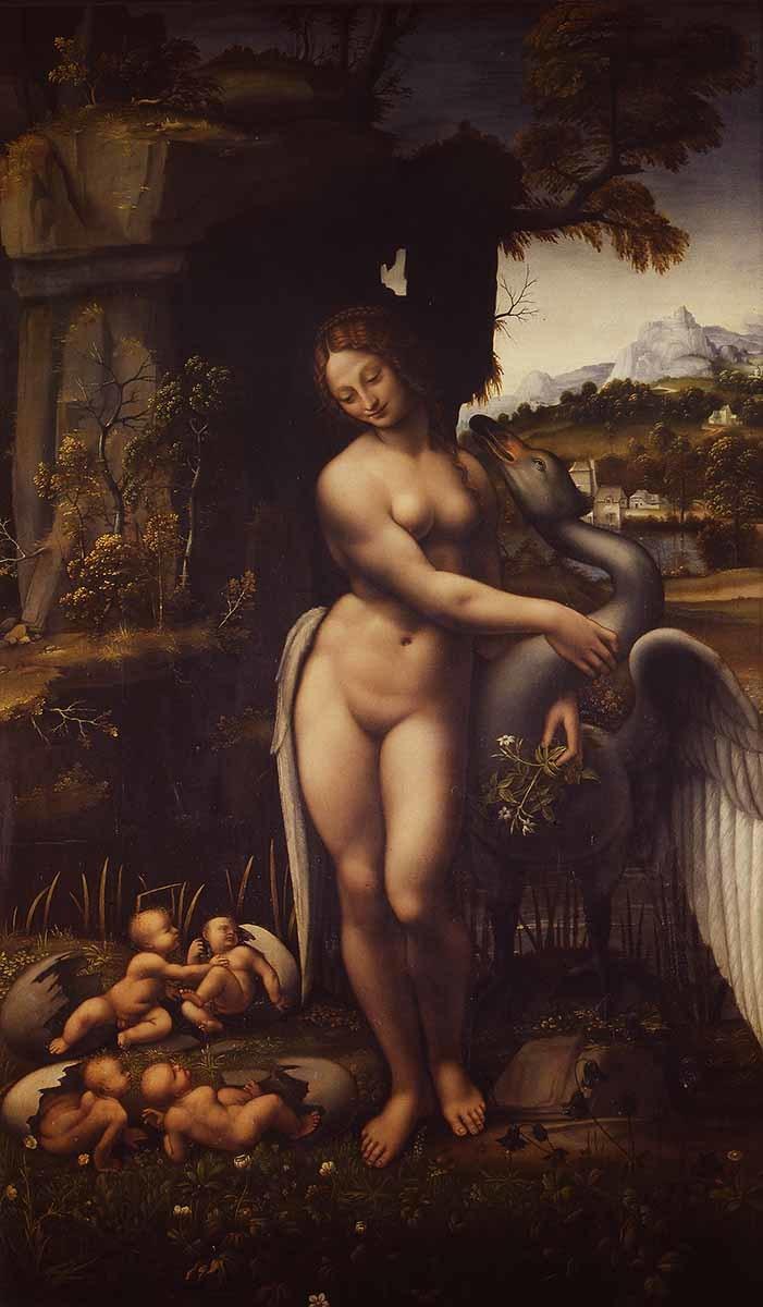 レオナルド・ダ・ヴィンチに基づく 《レダと白鳥》 1505-10年頃 ウフィツィ美術館 ©Firenze, Gallerie degli Uffizi, Gabinetto fotografico delle Gallerie degli Uffizi