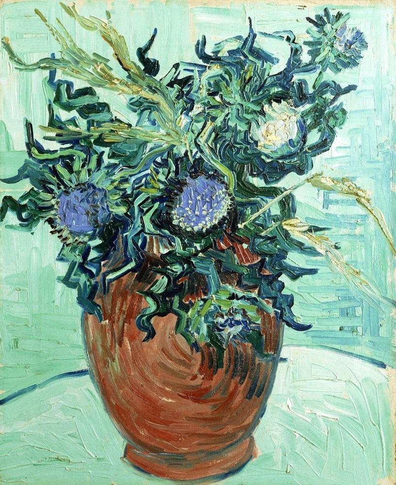フィンセント・ファン・ゴッホ《アザミの花》1890年 油彩/カンヴァス ポーラ美術館