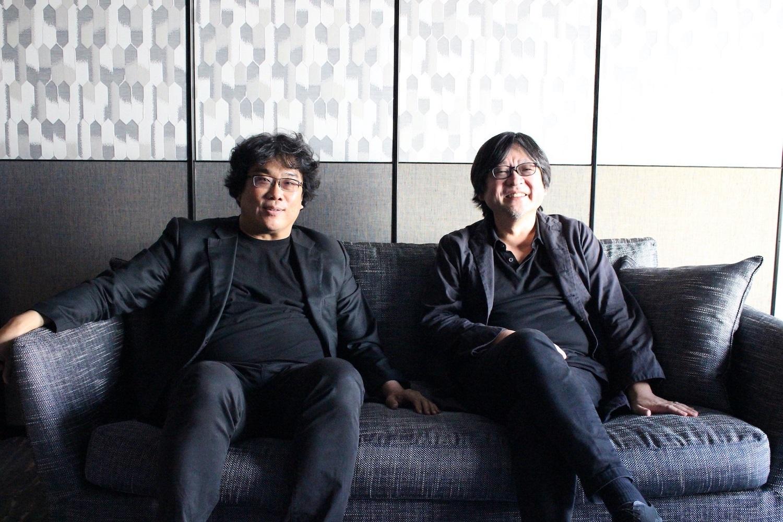 左から、ポン・ジュノ監督、細田守監督