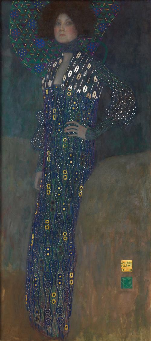 グスタフ・クリムト《エミーリエ・フレーゲの肖像》1902年 油彩/カンヴァス 178×80 cm ウィーン・ミュ ージアム蔵 (C) Wien Museum / Foto Peter Kainz