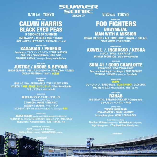 SUMMER SONIC 2017 東京公演