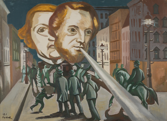 《煽動者》 1931年 一般財団法人福沢一郎記念美術財団蔵