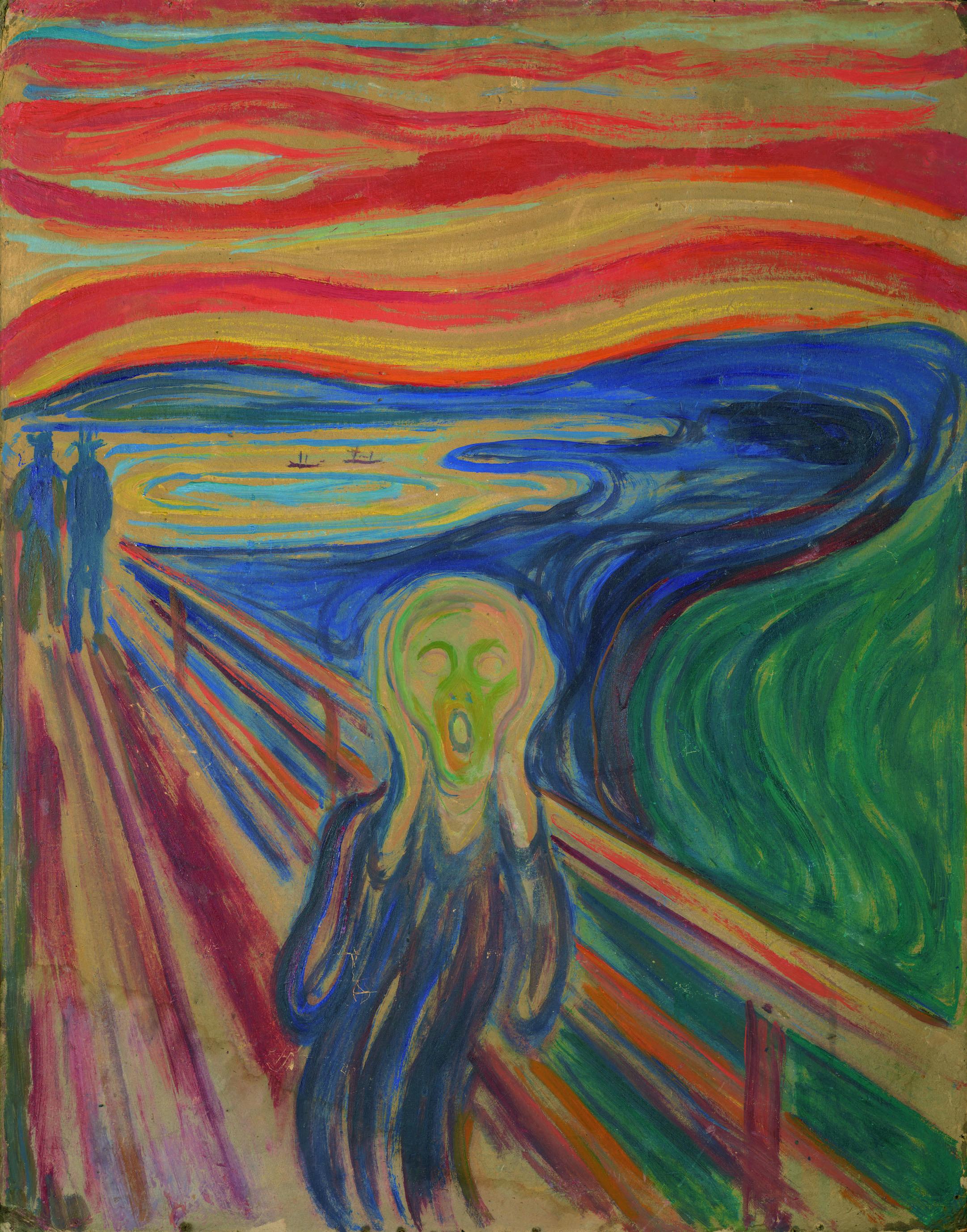 エドヴァルド・ムンク《叫び》1910年? テンペラ・油彩、厚紙 83.5×66cm