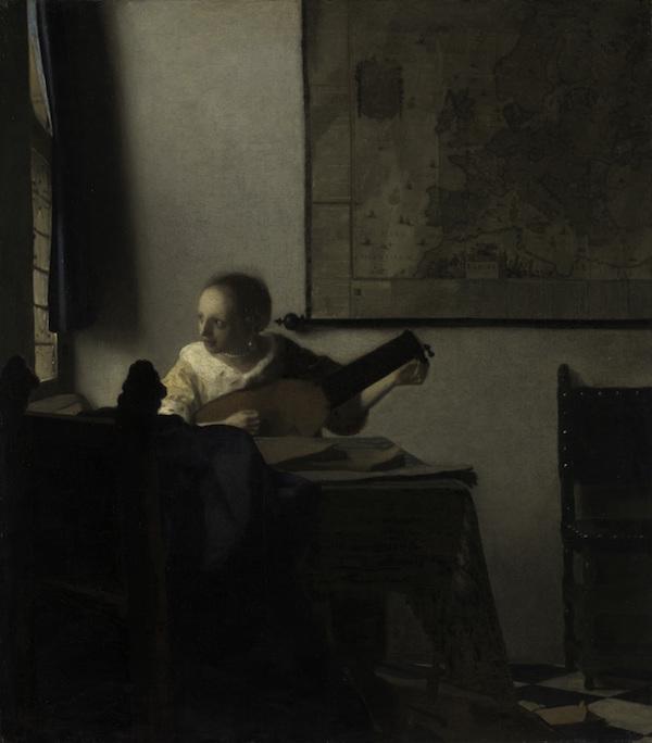 ヨハネス・フェルメール《リュートを調弦する女》1662-1663年頃  メトロポリタン美術館 Lent by the Metropolitan Museum of Art, Bequest of Collis P. Huntington,