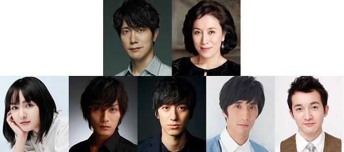 (上段左から)佐々木蔵之介、高畑淳子(下段左から)葵 わかな、加藤和樹、水田航生、永島敬三、浅利陽介