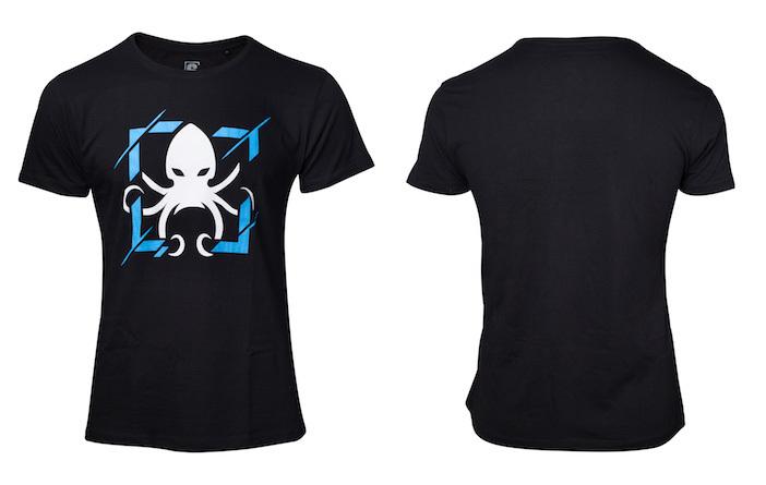 4パターンのプリントを用意した、レインボーシックス Pro League限定グッズのTシャツ(税込3000円)