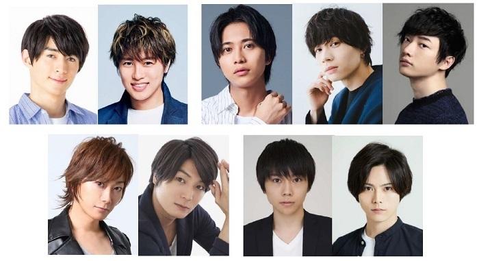 (上段左から)澤田雅也、松本幸大、谷水力、安井一真、和合真一(下段左より)KIMERU、八神蓮、深澤大河、大崎捺希