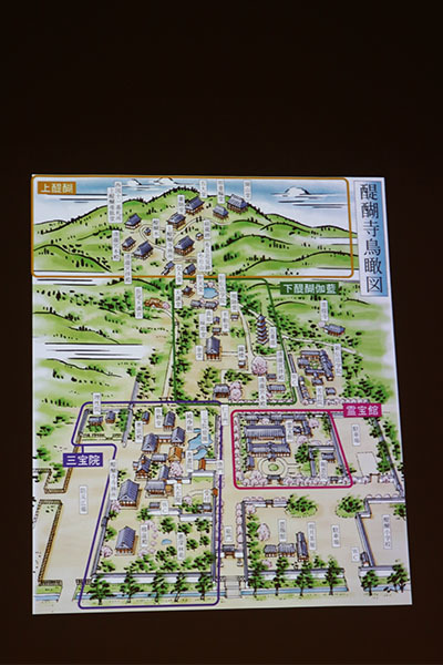 醍醐寺鳥瞰図